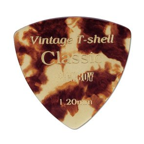 Pickboy Guitar Picks Extra Heavy Rounded Triangle Vintage T (Celluloid Rounded Triangle)