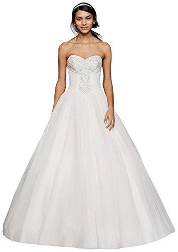 Ntwg3804 Bianco Morbido Stile Abito Di Spalline Pizzo Ballo Da Perline Di Tulle Sposa Senza In David Corpetto w1aqq6H