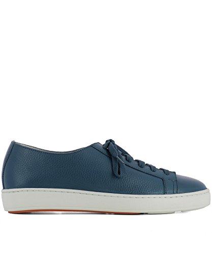 SANTONI Sneakers Uomo MBCN14387BA6CMIAU40 Pelle Blu