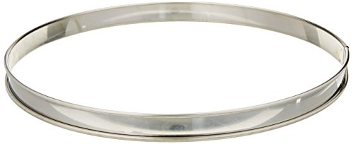 Matfer Bourgeat 371617 Plain Tart Ring, Silver (Matfer Bourgeat Ring)