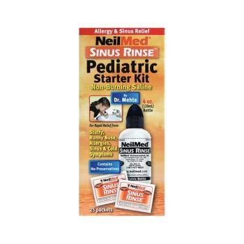 Sinus Rinse Sinus Moisturizer - Neilmed's Sinus Rinse, Pediatric, Bottle Kit for Saline Nasal Rinse