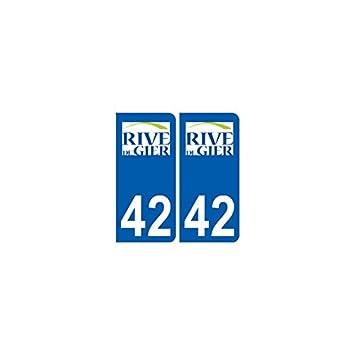 42 rive de gier city sticker plate logo stickers