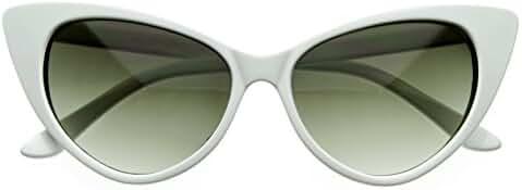 SWG EYEWEAR ® Designer Inspired Super Cat Eye Sunglasses Snow White