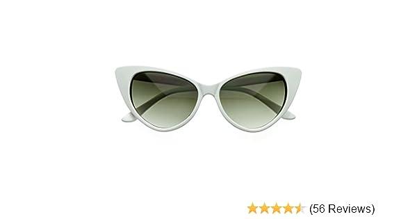 071a2f8941b4 Amazon.com  SWG EYEWEAR Designer Inspired Super Cat Eye Sunglasses Snow  White  Clothing