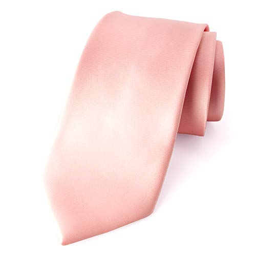 Spring Notion Men's Solid Color Satin Microfiber Tie, Skinny Petal