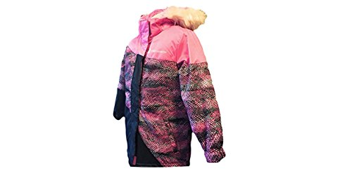 Free Country Girls Radiance Dobby Boarder Winter Coat Faux Fur Removable Hoodie Jacket, Pink Sizzle (5) (Country Hoody)