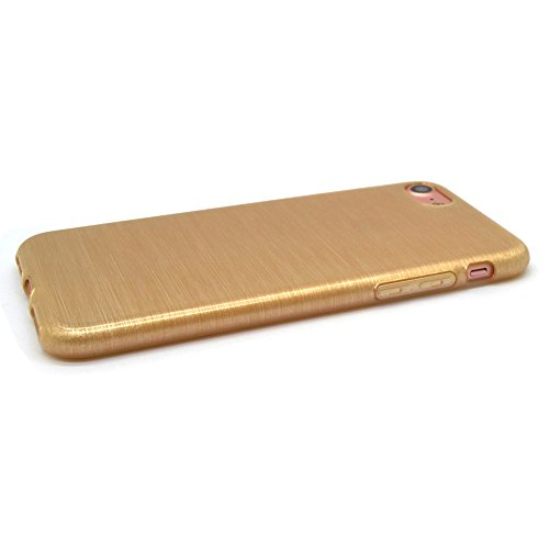 iProtect Apple iPhone 7, iPhone 8 Hülle Soft Case TPU Schutzhülle Brushed Edition Gold