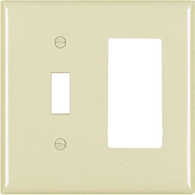 PASS & SEYMOUR TP126ICC12 2 Gang 1 Decorator Opening Nylon Wall Plate, Ivory