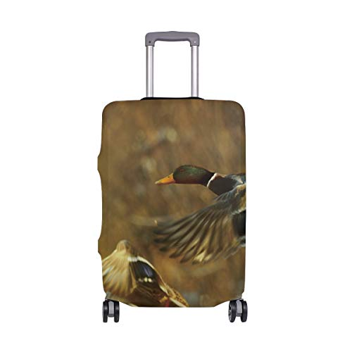 DERLONKAJE Travel Suitcase Protector Two Ducks Luggage Cover 29-32 Inch