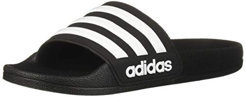 adidas Baby adilette Shower, White/Core Black, 10K M US Toddler ()
