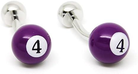 Gemelolandia - Gemelos bola billar numero 4 morada de forma ...