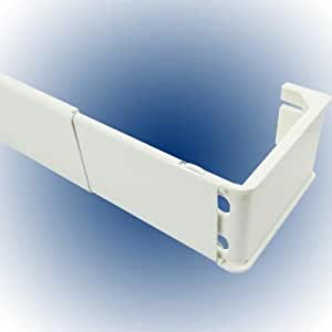 Graber 2 1 2 Inch Wide Pocket Curtain Rod 28 To 48 Inch Adjustable Width White