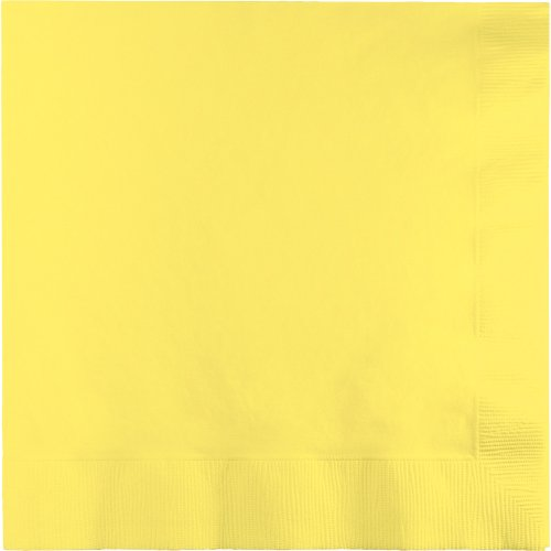 Touch of Color 3-Ply Paper Dinner Napkins, Mimosa, 25-Count