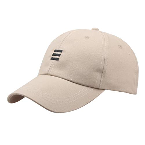 Unisex Embroideried Baseball Cap,Crytech Hip Hop Cotton Embroidery Adjustable Snapback Ballcap Hat Outdoor Hip-Hop Low Profile Dad Cap Sun Visor Cap for Women Men (Beige)