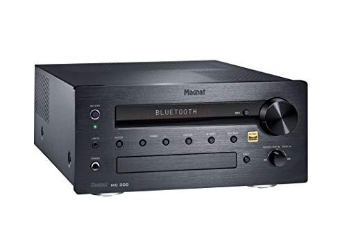 Magnat MC 200, zwart – compacte stereo-netwerkontvanger met hoogwaardige aluminium voorzijde en talrijke streaming…
