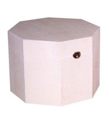 greca Caja Octogonal Mediana. Caja de Madera. Caja en Crudo, para Pintar.