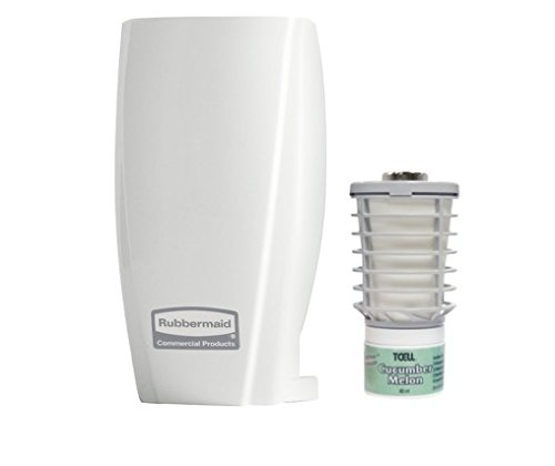 rubbermaid-commercial-products-fg500551-tcell-starter-pack-white-dispenser-and-cucumber-melon-refill