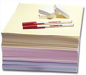 8.5'' X 11 Cleanroom Notebook - 100 Engineering Grid Pages - 10 Notebooks / Case