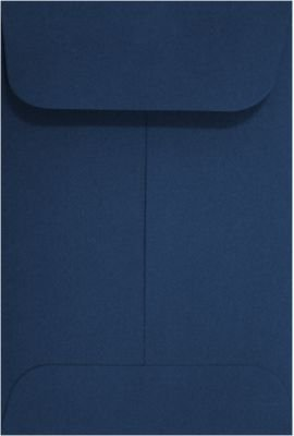 #1 Coin Envelopes (2 1/4 x 3 1/2) - Navy Blue (250 Qty.) | Perfect for Wedding, Parties, Event Favors and Place Cards | Fits Small Parts, Stamps, Jewelry, Seeds, Extracts | Inventory Envelopes | Mini Envelopes | Crafting Envelopes | 80lb Text Paper | LUX-
