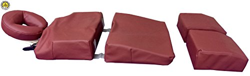 Pregnancy Pillow Maternity Cushion Bolster Set Burgundy w/ Carrying Case DevLon NorthWest