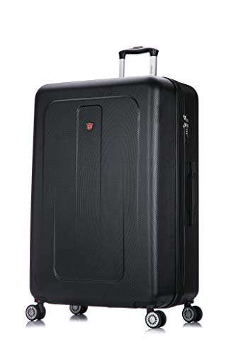 DUKAP Luggage - Crypto Collection - Lightweight Hardside Spinner XL 32'' inches Black - Suitcases with - Suitcase Inch 32 Trolley