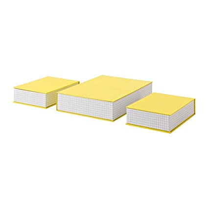 Hejsan caja de archivo, juego de 3, Amarillo, 2 archivadores de (21