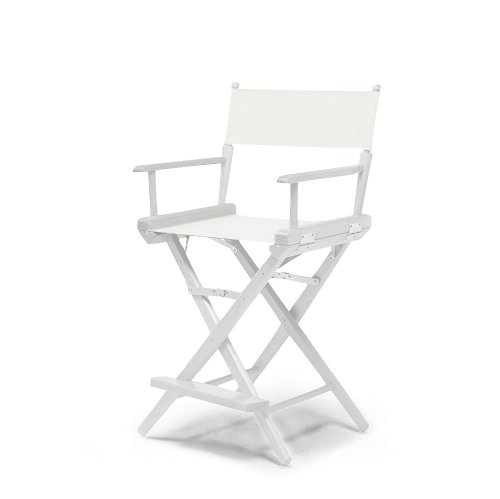 Telescope Casual World Famous Counter Height Director Chair, White with White Frame by Telescope Casual