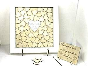 Personalizable blanco libro de invitados para boda Drop caja ...
