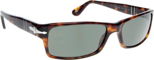 Persol PO2747S Acetate Frame Classics Sunglasses 24/31-57 - Havana Frame, Crystal Green