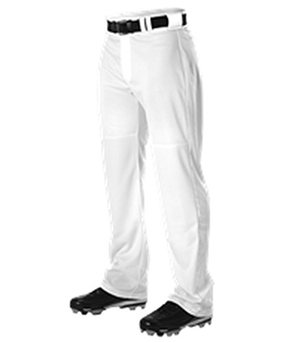 Alleson Adult Warp Knit Wide Leg Baseball Pant White L PWRPP PWRPP-WH-L (Knit Adult Polyester Warp)