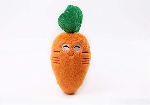 (CatYou Pet Squeak Chew Plush Toy for Dog Cat Pet, Carrot Style)