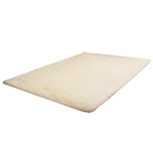 Price comparison product image Modern Area Rug,  BSGSH Soft Shaggy Mat Non-slip Floor Pad for Dining Room,  Home,  Bedroom,  Bathroom,  Shower - 80 x 120cm (White)