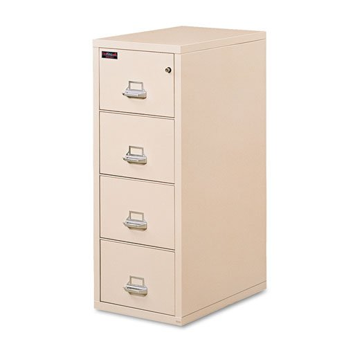 Fireking 4-Drawer Vertical File, 21-5/16w x32 1/16d x 57h, UL Listed 350°, Parchment - BMC-FIR 421572PA