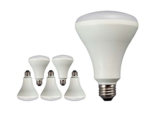 TCP LBR306527KND6 65 Watt Equivalent LED Flood Light Bulbs, BR30 Lamp E26 Medium Base Non-Dimmable, Soft White (6 Pack)