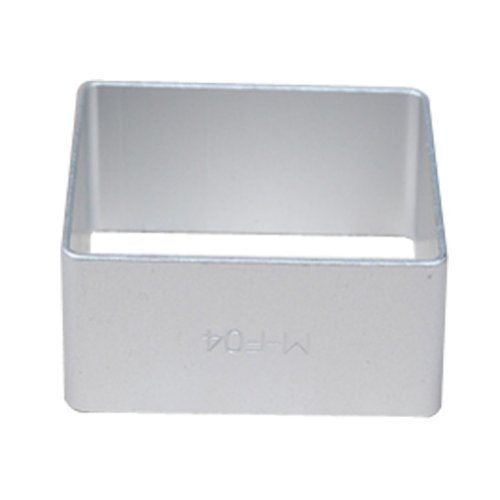 Wocuz Baking Cookie Cutter Aluminum Square Shape Cutter Cut Outs Mold for Party 10 Pcs ()