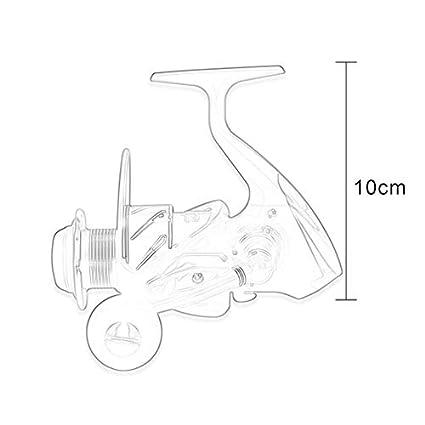 laonBonnie Spinning Angelrolle Rad Aluminiumspule 1000 7000 Modelle 5 10kg Angelrolle Rad Schwarz