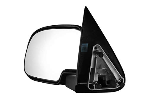 Driver Side Chrome Cover Manually Operated Side View Mirror for 99-06 Chevy & GMC Trucks, 02-06 Avalanche, 07 Classic, 02-06 Cadillac Escalade EXT - Parts Link #: - Mirror Outside Chrome