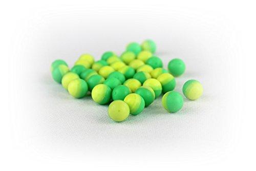 Kingman Training Chaser (100 count Bag .43 caliber Dust Powder Balls Paintball Green/Yellow 11mm waterproof kt chaser eraser)