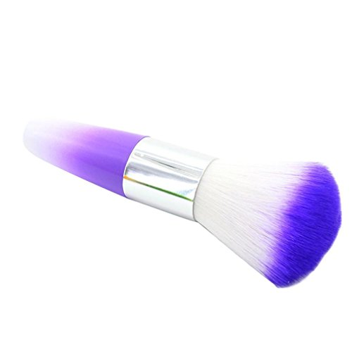Fabal Color Nail Art Dust Cleaner Brushes Tool For Acrylic UV Gel Powder Remover Kit (Purple)