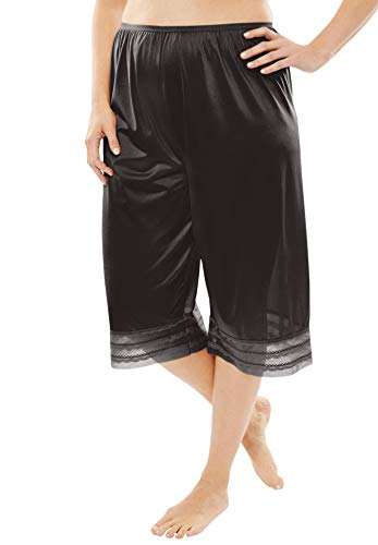 Comfort Choice Women's Plus Size Snip-to-Fit Culotte - Black, M ()