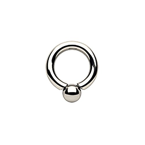 Surgical Steel Screwball Rings, Body Piercing Jewelry (2 gauge (6mm) - 1