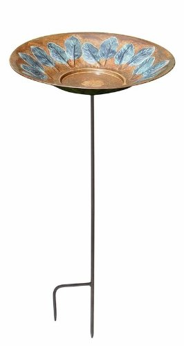 Iron Leaf Birdbath Stand - 2