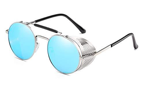 Amazon.com: Kasuki 2018 Sunglasses Round Designer Steam Punk ...