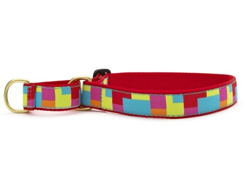 Color Block Martingale Dog Collar - Small (9-15 Inches) - 5/8 In Width