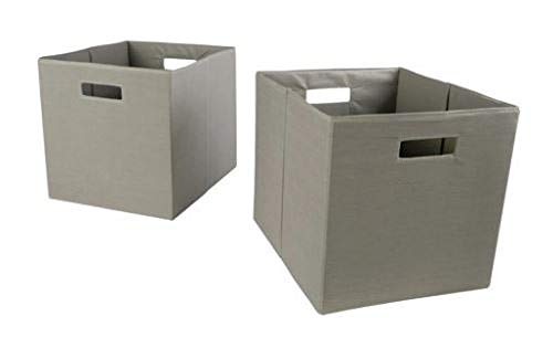"Taupe Fabric Cube Storage Bins (12.75"" x 12.75""), Set for sale  Delivered anywhere in USA"