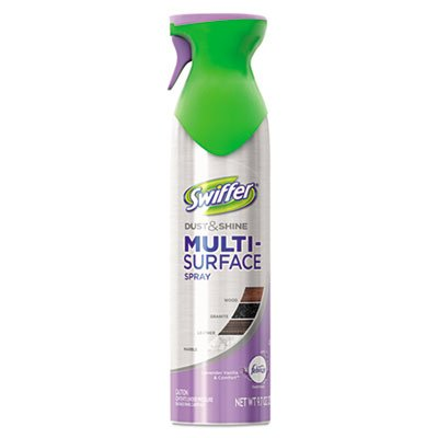 Swiffer Dust & Shine Furniture Polish, Lavender Vanilla Scent, 9.7 oz Aerosol, 6/Carton
