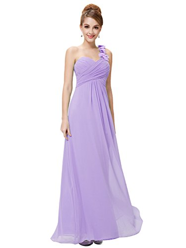 Ever-Pretty Womens Floor Length Sweetheart Neckline Formal Bridesmaids Dress 12 US Light Purple