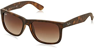 polarised sunglasses price  Amazon.com: Ray-Ban Justin Sunglasses (RB4165) Black/Grey Plastic ...