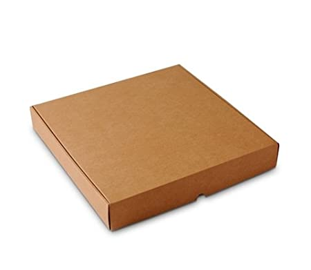 Selfpackaging Caja de Pizza en microcanal Color Kraft Disponible en 3 tamaños. Muy Resistentes. Pack 50 ud. - S: Amazon.es: Hogar