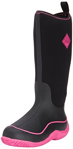 Muck Boot Women's Hale Snow Boot, Black/Hot Pink, 8 M US by Muck Boot